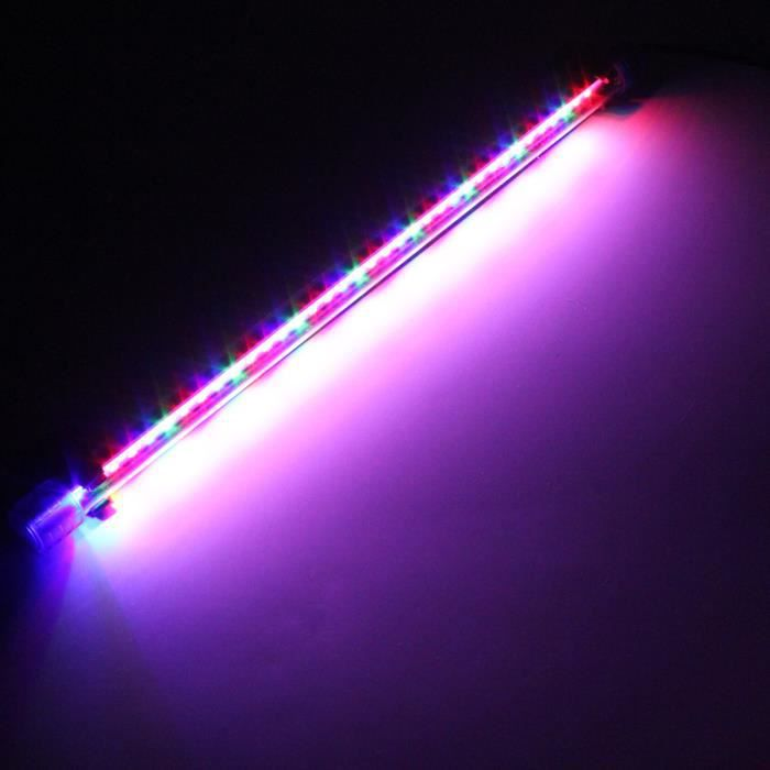 Submersible Lampe Multicolore Us Led 50cm Prise Fish Aquarium Strip 2835 Etanche Smd N08wnm