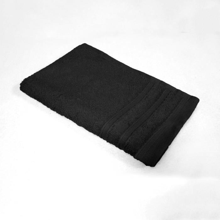 serviette de bain 30x50 noire achat vente serviette de bain 30x50 noire pas cher soldes. Black Bedroom Furniture Sets. Home Design Ideas