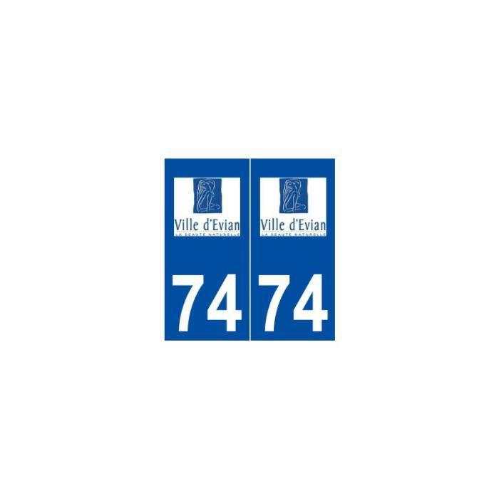 74 Évian-les-Bains logo autocollant plaque stickers ville - Angles ...