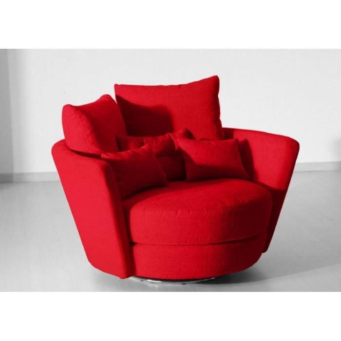 FAMA Fauteuil pivotant design MYNEST rouge Achat Vente fauteuil