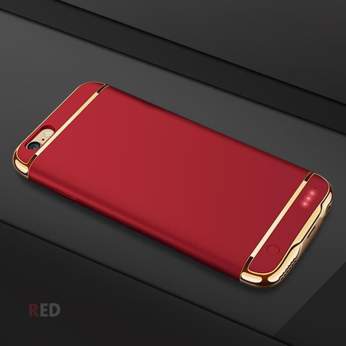 coque rechargeable iphone 7 plus rouge