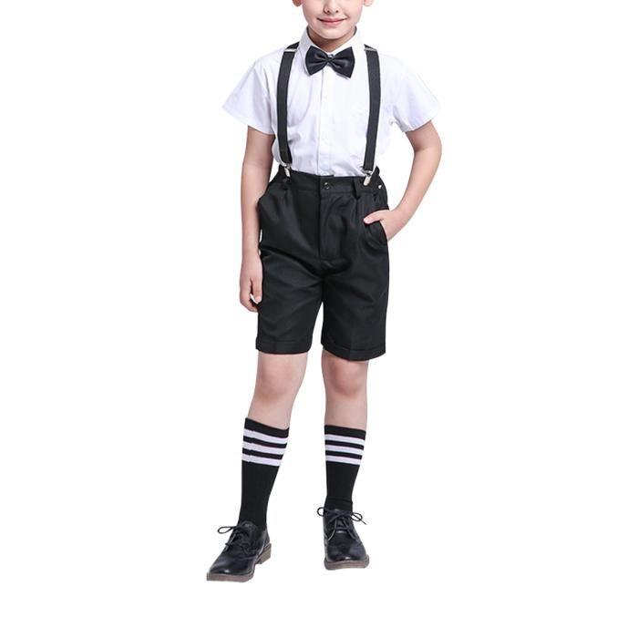 ensemble de vêtement pour garçons costume de mariage pour enfants 4