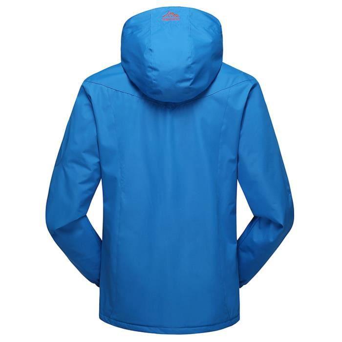 Plein Hiver Air Assault Outdoor Manteau Zipper En À Automne Cachemire Capuche Sport Bleu Hommes wapza5xnq