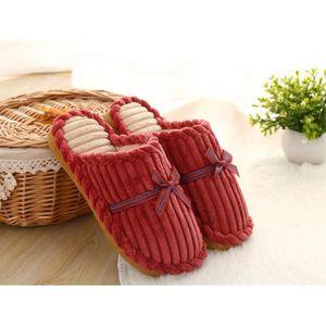 Napoulen®Femmes Stripe pantoufles de bain plat été intérieur et extérieurBleu-YLL71213527BU mhBLA7