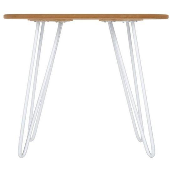 Table basse design - Esprit scandinave - Coloris BLANC - Achat ...