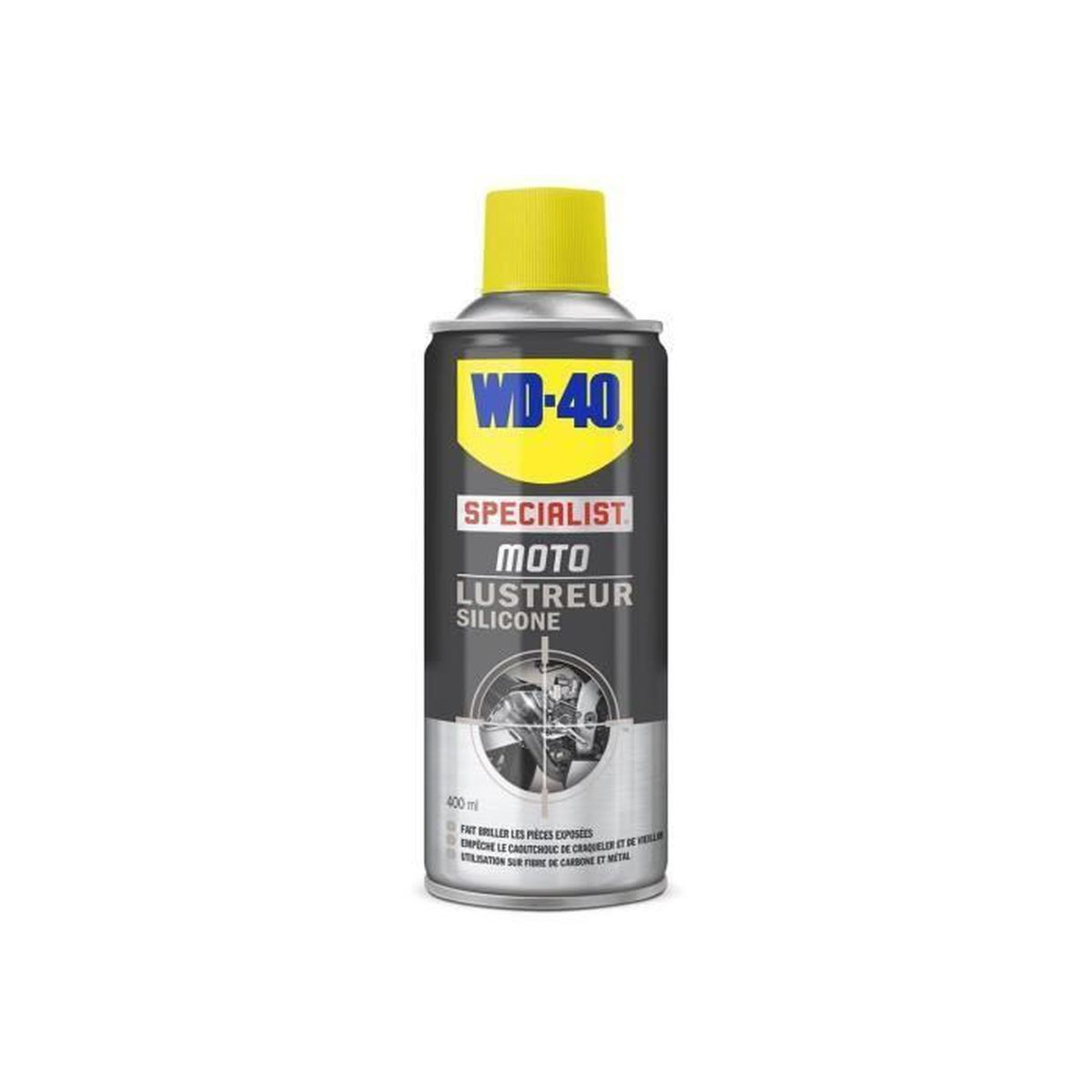 Lustreur silicone moto WD40 400ml