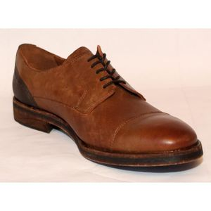 DERBY DERBY CHAUSSURES HOMME  CUIR CAMEL T 45 NEUVES