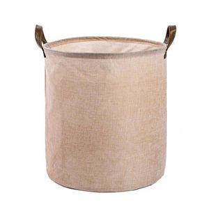 BOITE DE RANGEMENT Linge de coton imperméable PE revêtement Panier de