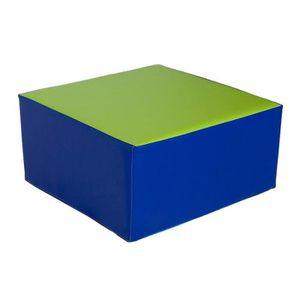 CHAUFFEUSE - POUF KIDUNIVERS - Pouf carré 50x50cm en mousse pour enf