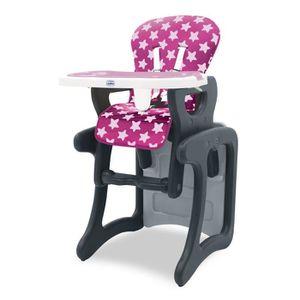 CHAISE HAUTE  Chaise haute convertible Baby Fox 'Etoiles' - Rose
