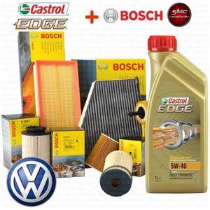 HUILE MOTEUR KIT VIDANGE 4 FILTRES BOSCH VW - 5 L HUILE MOTEUR