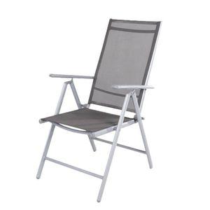 FAUTEUIL JARDIN  Chaise pliante de la LEX 7 positions, sombre gris/
