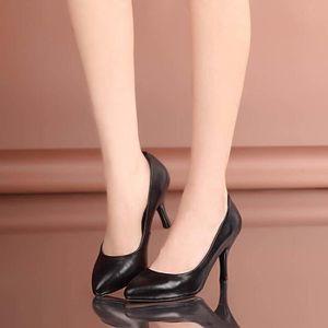 Nouvelles 8cm de soirée fines orteil chaussures chaussures talons noir pointues femmes SaqwRS