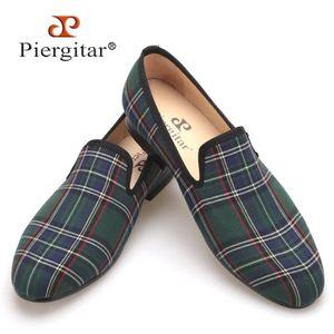 MOCASSIN Scotch plaids en tissu à la main Chaussures Hommes
