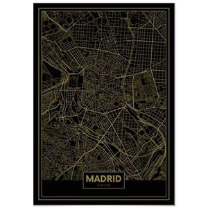 AFFICHE - POSTER Panorama® Poster Carte Or de Madrid 35 x 50 cm - I