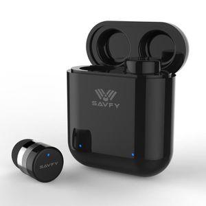 CASQUE - ÉCOUTEURS SAVFY MINI Casque Ecouteur Bluetooth + Dock Boîtie