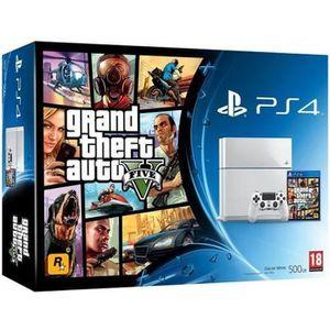 CONSOLE PS4 Console PS4 500 Go Blanche + GTA V Jeu PS4