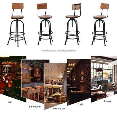 Bar Réglable Hauteur Stool De Vintage Industriel Tabouret Haut Populaire Bistrot WDH9E2I