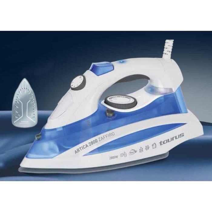 TAURUS 918851000 Fer à repasser Artica Zaffiro - 2800 W - Blanc et Bleu