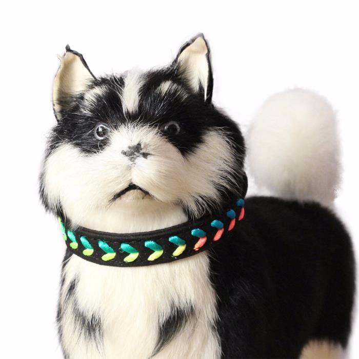 Exquis Réglable 7 Couleur Tissé Chien Puppy Pet Colliers Nihapai 1345