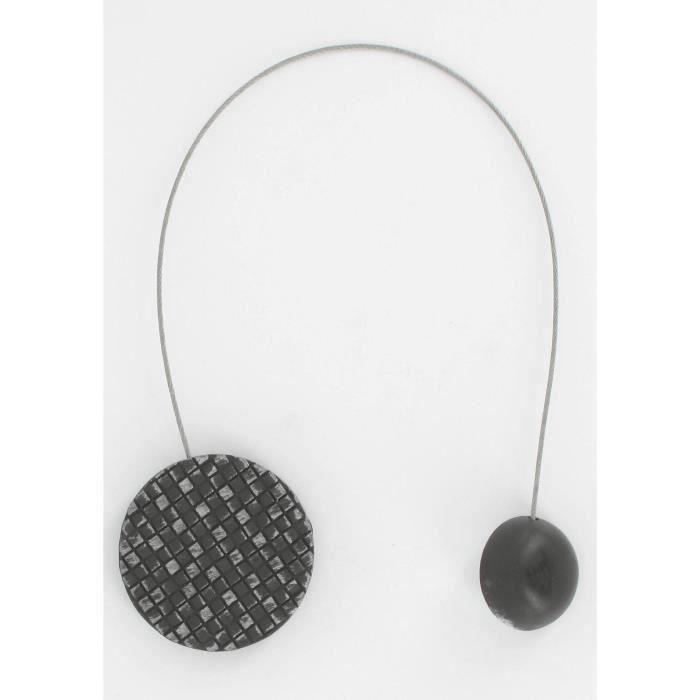 embrasse rideau m tallis e aimant e ronde mosa que noir et argent 286196 achat vente. Black Bedroom Furniture Sets. Home Design Ideas