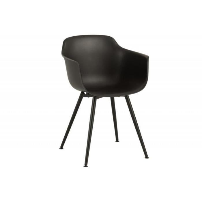 Chaise Moderne Coque Noir Sam