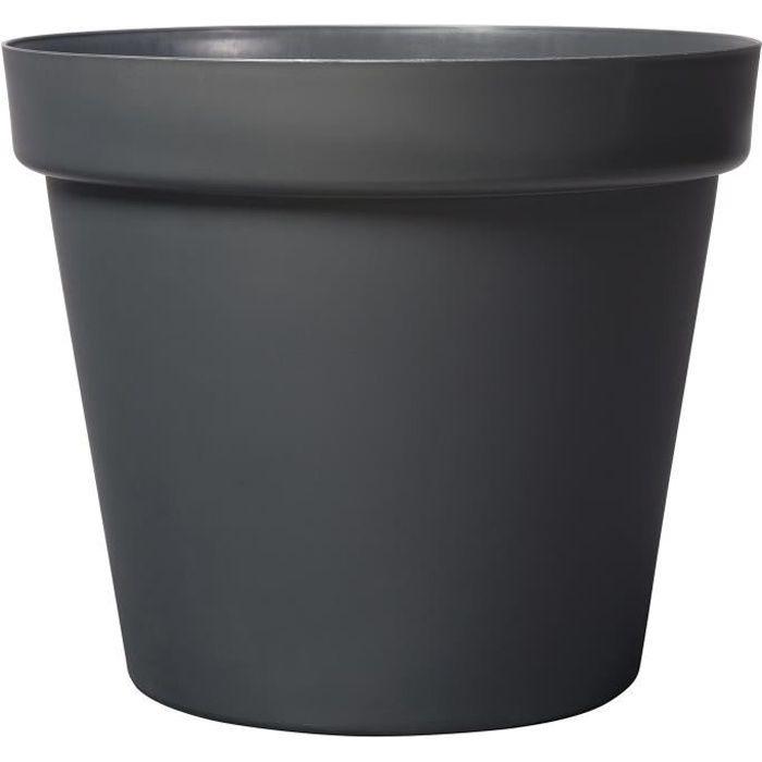 Deroma Pot De Fleur Rond Grande O 70 X H 58 7 Cm 150 L Gris