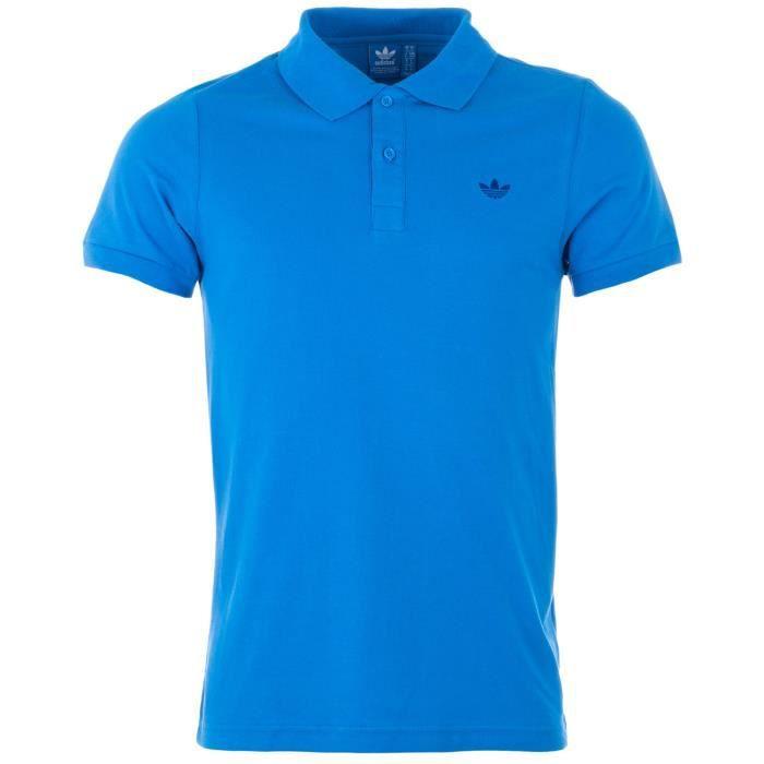 Polos Adidas bleus homme 260Ptlv33M