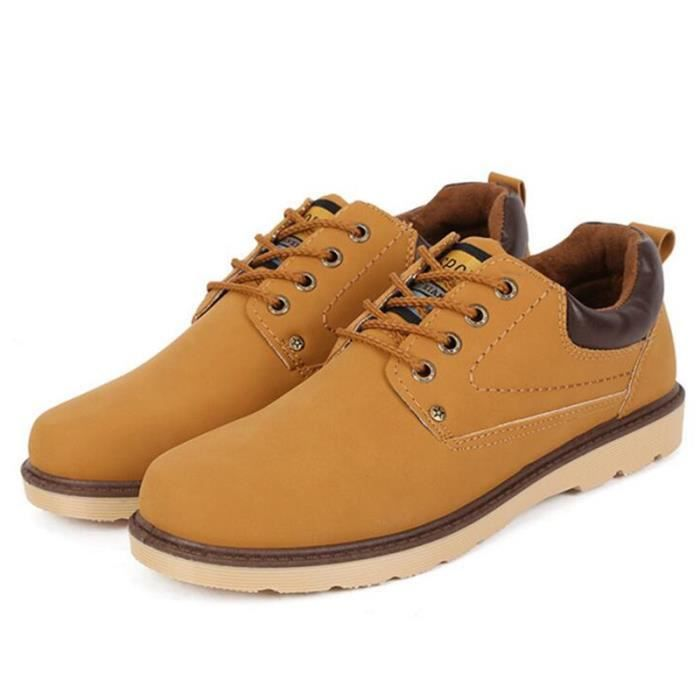 Sneaker Homme Martin Botte Homme Automne Hiver Qualité Supérieure En Cuir Daim Bottine De Travail Sport Chaussures Confortable