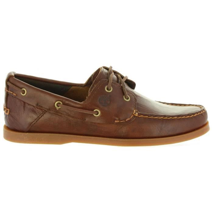 Chaussures bateau pour Homme TIMBERLAND A1H6C HERITAGE BROWN Marron ... 113c103f01c7