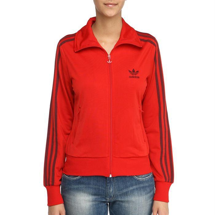 sweat femme adidas rouge