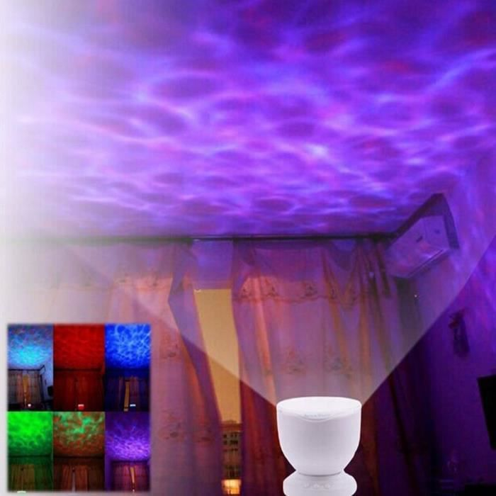 led night light projector romantique ocean multicolore mer. Black Bedroom Furniture Sets. Home Design Ideas
