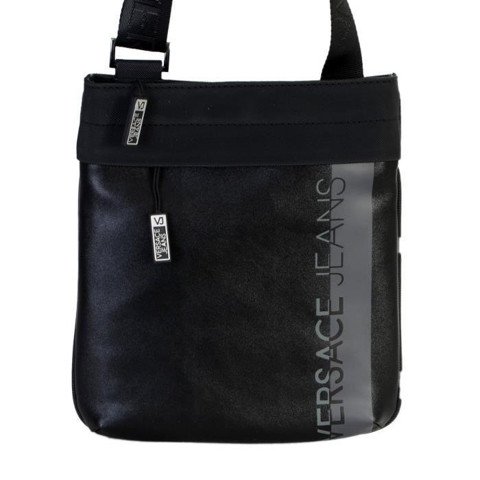 0f9c7c9a8d Sacoche Versace Linea Macrologo Unique Noir - Achat / Vente sacoche ...