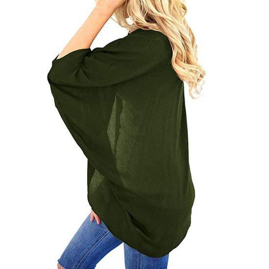 Les Femmes Slim Manches Solide Manteau Jacket Pardessus Épais Kaki Hxr80908834khl Hiver Chaud rrqwTnd