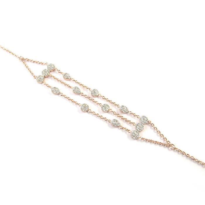 Bracelet plaqué or Sissi doré rosé... [P0551]