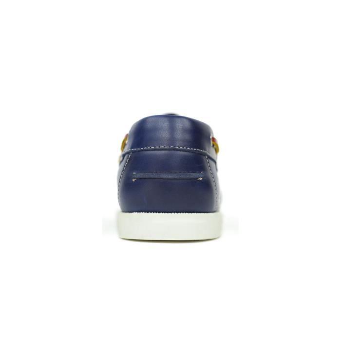SEAMARINE COLOR cuir jean - Chaussure Bateau Homme Orangemarine JEAN 46
