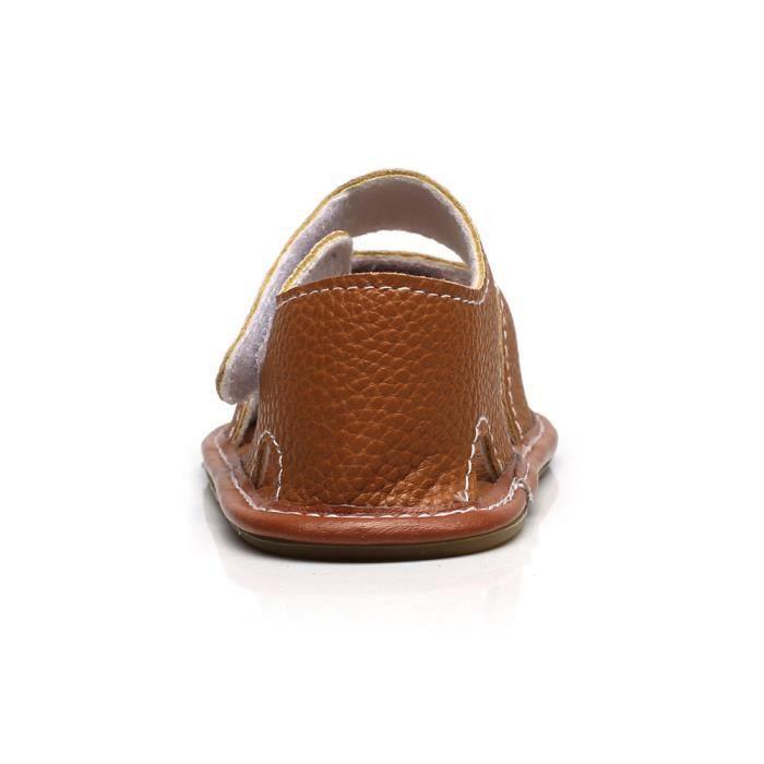 36a41178afef7 Plates né De Bébé Souple En Garçon Fille marron Nouveau Camouflage  Chaussures Cuir D été Enfant Sandales 4wYFnqR5x