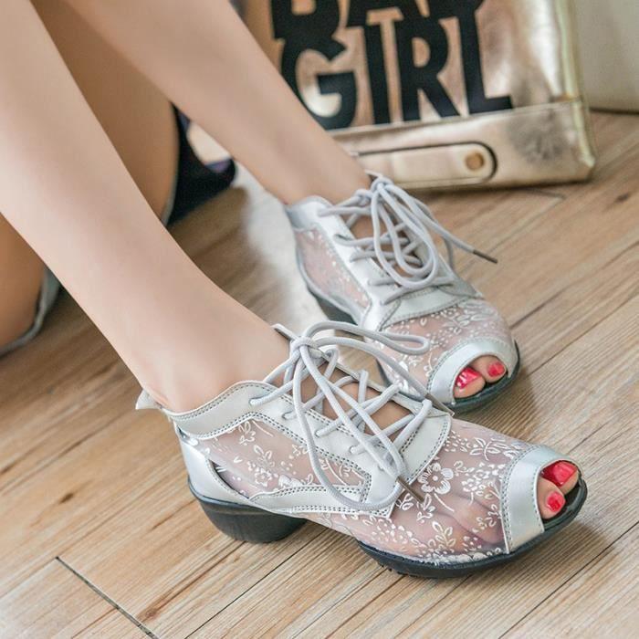 2016 Nouveau Compensées haut talon Chaussures plateforme Pompes pour les femmes Derbies Casual Sexy Chaussures Femme Printemps Eté M7NsXm