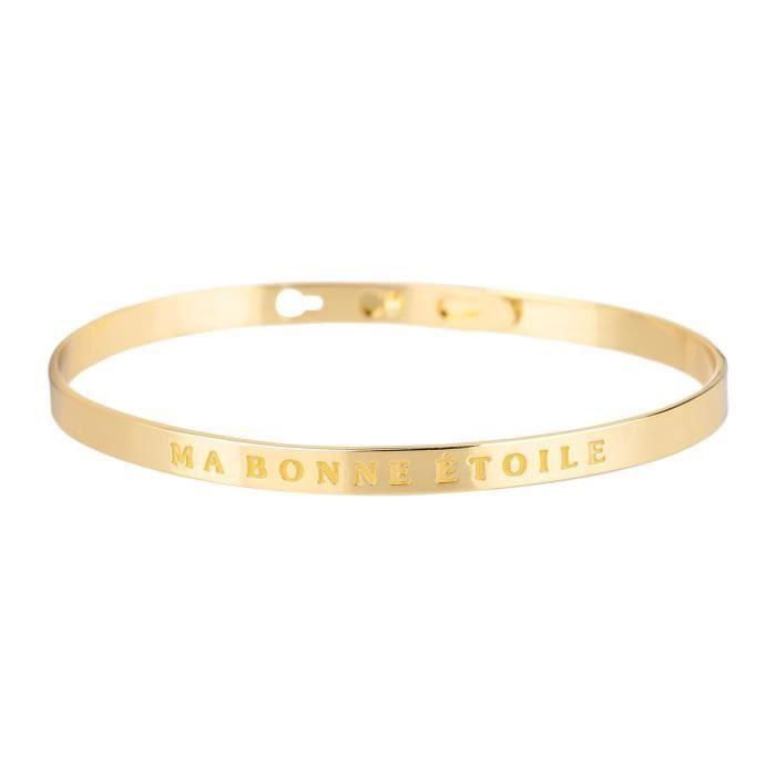 BAM - Bracelet  Ma Bonne Etoile  Laiton doré - Femme