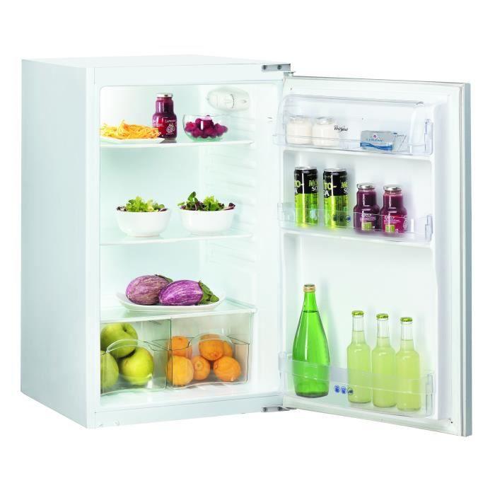 whirlpool arg451a - réfrigérateur 1 porte encastrable - 130l - froid