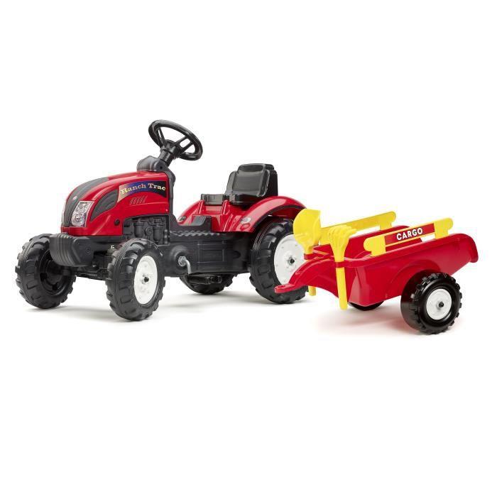 falk tracteur p dales rouge ranch avec remorque pelle et. Black Bedroom Furniture Sets. Home Design Ideas