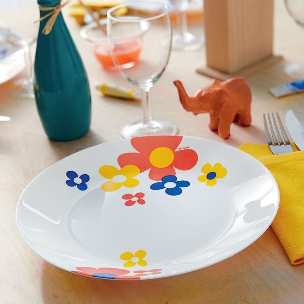 c33e307773cd3f Service de vaisselle à fleurs Arcopal Celestine 18 pièces Multicolor ...
