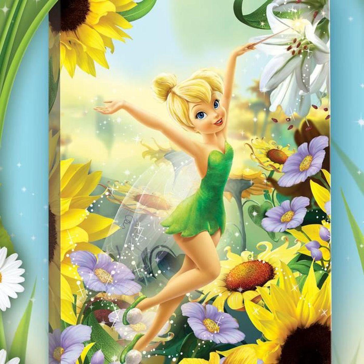 Tableau les tournesols f e clochette disney fairies achat vente tableau toile cdiscount - Image de la fee clochette ...