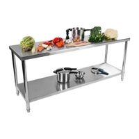 PLAN DE TRAVAIL Table de travail en inox - 160x70cm - Table en ino