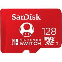 CARTE MÉMOIRE SanDisk Carte mémoire flash 128 Go UHS-I U3 microS