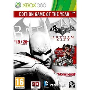 JEUX XBOX 360 BATMAN ARKHAM CITY GOTY / Jeu console XBOX 360