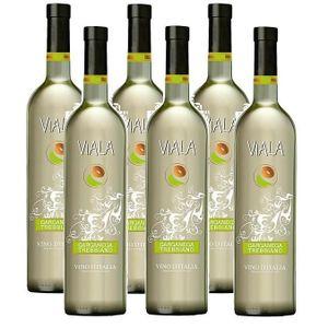 VIN BLANC Viala Garganega Trebbiano Vin Blanc 6 x 0,75l