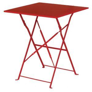 MANGE-DEBOUT Boléro Rouge Square Pavement style Table acier