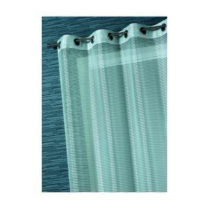 VOILAGE Voilage Organza Rayures Fantaisies Blanc 140 X 240