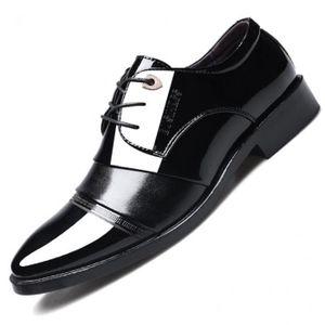 styles divers le magasin bébé Chaussure Homme Cuir Chaussures habillées Mode Pointu-Toe Lacets Et  DéContracté Noir